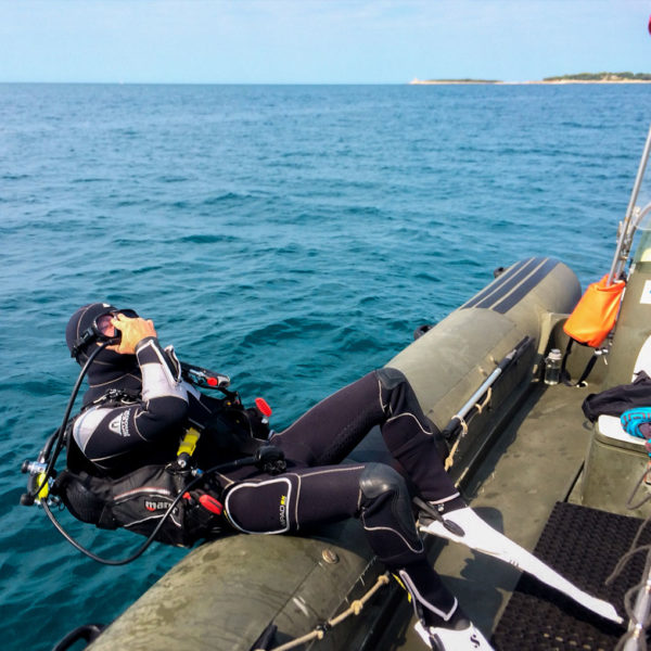 Boat dive Hippocampus Diving Center Istria