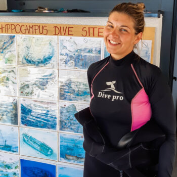 Dive master diving in Croatia with diving center Hippocampus