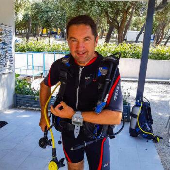 Scuba diving instructor Hippocampus diving center Croatia Istria Pula